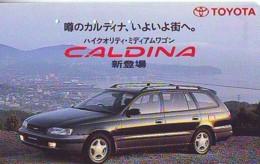 Télécarte JAPON *  TOYOTA CALDINA   (1519)  Phonecard JAPAN * VOITURE * Auto CAR * TELEFONKARTE - Cars