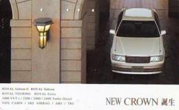 Télécarte JAPON *  TOYOTA NEW CROWN  (1526)  Phonecard JAPAN * VOITURE * Auto CAR * TELEFONKARTE - Cars