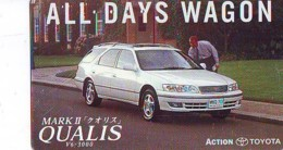 Télécarte JAPON *  TOYOTA * QUALIS  (1527)  Phonecard JAPAN * VOITURE * Auto CAR * TELEFONKARTE - Cars