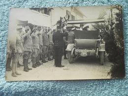 4 Cpa Photo Internés Militaire  Français 1918  En Suisse Le Pont Visite D'un Gradé Voiture France - Guerre 1914-18