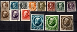 Bavière Michel N° 94IIB/109IIB Oblitérés. B/TB. A Saisir! - Bavaria