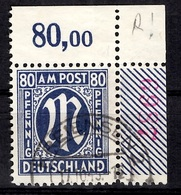 Allemagne/Bizone Michel N° 34 Oblitéré Superbe Coin De Feuille. B/TB. A Saisir! - American/British Zone