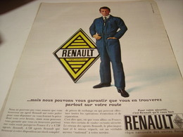ANCIENNE PUBLICITE AGENT  RENAULT 1965 - Transports
