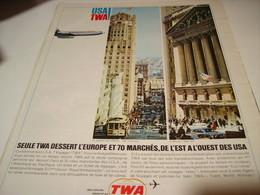 ANCIENNE PUBLICITE USA TWA 1965 - Publicités