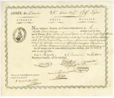 ARMEE DU DANUBE - Bad RAGAZ - Suisse 1799 - 25 DB De Legere - General GODINOT St Gallen Schweiz - Documenti Storici