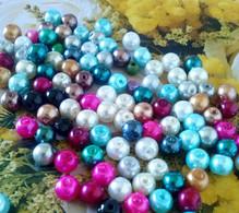 100 Perle IN VETRO CERATO Vari Colori Mm.4 - HOBBY CREATIVI - Stock Lotto - Perle