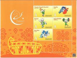 Turkmenistan.2017 Asian Sport Games (Tennis,Sambo,Football,Weightifting,Jiu-jitsu. M/S - Turkménistan