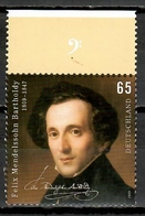 Germany 2009 Alemania / Felix Mendelssohn Music Composer MNH Música / Ka19  38 - Musique