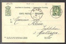 1898 Cancel MAMER To Göblingen Institeur Klein (271) - Entiers Postaux
