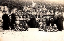 Thematiques 12 Aveyron Cransac Groupe Enfants Scout Drapeau Banniere - France