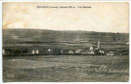 BELVEZET Vue Générale ( Village église ) Dos Vert - Voyagé 1928 - France