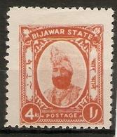 INDIA - BIJAWAR 1937 4a SG 11 MOUNTED MINT Cat £26 - Bijawar