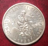 3 Reichsmark 1930 A Weimarer Republik Deutsches Reich WALTHER VON DER VOGELWEIDE J. 344 (Münze Coin Monnaie - 3 Mark & 3 Reichsmark