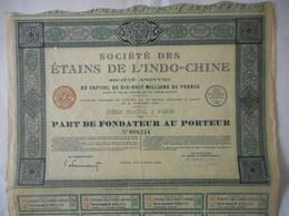 ETAINS De L'INDOCHINE          VIETNAM     1926 - Asie