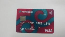 Kazakhsten-crediet Card(649)(1296-764)-used Card+1card Prepiad Free - Cartes De Crédit (expiration Min. 10 Ans)