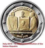 ITALIA - 2 Euro 2018 - Costituzione Italiana - UNC - Italia