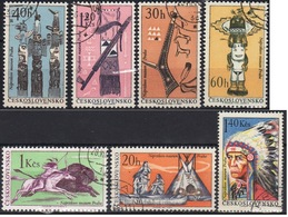 Czechoslovakia 1966 6 V Used  Indians Of North  America Horse Horses - American Indians