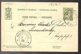 1903 WALFERDANGE > Charles Greten (273) - Entiers Postaux