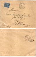 Envelppe Adressée De CONSTANTINE A PITHIVIERS (Loiret) - Cachets (110579) - 1876-1898 Sage (Type II)