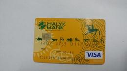 Kazakhsten-crediet Card(650)(5089-564)-used Card+1card Prepiad Free - Cartes De Crédit (expiration Min. 10 Ans)