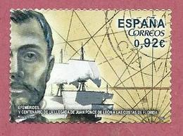 SPAGNA USATO - 2014 - 500th Anniversary Of Juan Ponce De León's Arrival In Florida - 0,92 € - Michel ES 4848 - 2011-... Usati