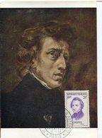 40501 France, Maximum 1956,  Frederic Chopin, - Musique