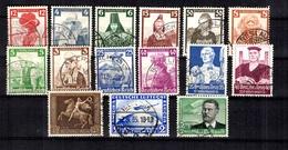 Allemagne/Reich Petite Collection De Bonnes Valeurs Oblitérées 1927/1937. A Saisir! - Allemagne