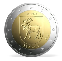 LETTLAND 2 Euro 2018 ZEMGALE - Aus Rolle - Sofort Lieferbar - Lettland