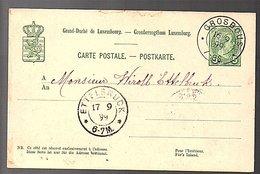 1899 Very Rare Small Town Cancel GROSBAUS> ETTELBRUCK (275) - Entiers Postaux
