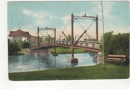 BERLIN (Kitchener), Ontario, Canada, Victoria Park & Bridge, 1909 Weaver Postcard, Waterloo County, S/R Headford Ontario - Ontario