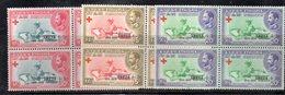 ETP2 - ETIOPIA 1959 , Yvert Serie In Quartina Yvert N 349/351  ***  MNH  CROCE ROSSA - Croce Rossa
