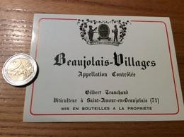 Etiquette Vin «BEAUJOLAIS VILLAGES -Gilbert Tranchand-SAINT-AMOUR-EN BEAUJOLAIS (71)» - Beaujolais