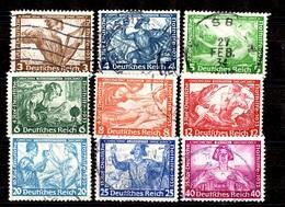 Allemagne/Reich Série Wagner YT N° 470/478 Oblitérés. B/TB. A Saisir! - Allemagne