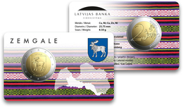 LETTONIE - 2 Euro 2018 - Zemgale - Coincard - Lettonie