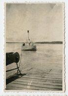 Voilier Bateau Vapeur Id WAREMME Belgique Lac Lake  1932 30s  Romantisme Photo Ancienne - Boten