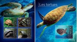 Niger 2013, Animals, Turtles I, 4val In BF+BF - Niger (1960-...)