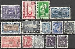 _8s-774: Restje Van 14 Zegels... Verder Uit Te Zoeken.. - Islande