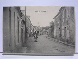72 - PONT DE GENNES - ANIMEE - CYCLISTE - CAFE - France