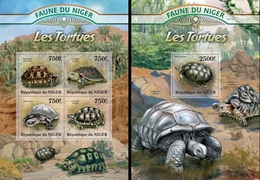 Niger 2013, Animals, Turtles II, 4val In BF +BF - Niger (1960-...)