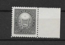 GUATEMALA 1963, COAT OF ARS, 10 CENTS, BLACK GREY, SCOTT 389, MICHEL 691 - Guatemala