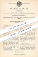 Original Patent - Fritz Wever , Chemnitz , 1894 , Französischer Rundwirkstuhl   Wirkstuhl   Schere , Kulier - Platine !! - Documenti Storici