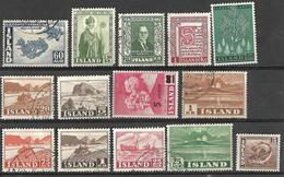 _8s-773: Restje Van 14 Zegels... Verder Uit Te Zoeken.. - Islande