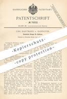 Original Patent - Chr. Hartmann , Hannover , 1894 , Elastische Einlage Für Hufeisen   Huf - Eisen   Hufschmied , Pferd - Documenti Storici