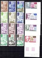 Wallis Et Futuna Poste Aérienne YT N° 44/47 Seize Essais De Couleurs Non Dentelés Neufs ** MNH. Rare! A Saisir! - Imperforates, Proofs & Errors