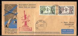 BELGO-AMERICAN ASSOCIATION - 1946 - LUFTPOST - AIR MAIL - POSTE AÉRIENNE - Militaria