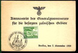 CARTE DE KRAKAU - AMTSANTRITT DES GENERALGOUVERNEURS - 1939 - - Deutschland