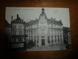 CPA AUXERRE Du 30 Décembre 1919:  L' Hôtel Des Postes ----> Enseignes : Chapellerie Des Fontaines, Grains Avoine - Auxerre