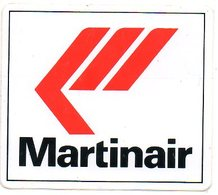Sticker Autocollant Martinair Vliegtuig Avion Airplane Flugzeug Reclame - Autocollants
