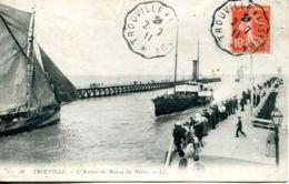 N°67686 -cachet Convoyeur Trouville à Lisieux 1911 - Poststempel (Briefe)