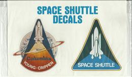 2 Autocollants SPACE SHUTTLE COLUMBIA - MISSION STS-1 - YOUNG / CRIPPEN - ESPACE - Autocollants